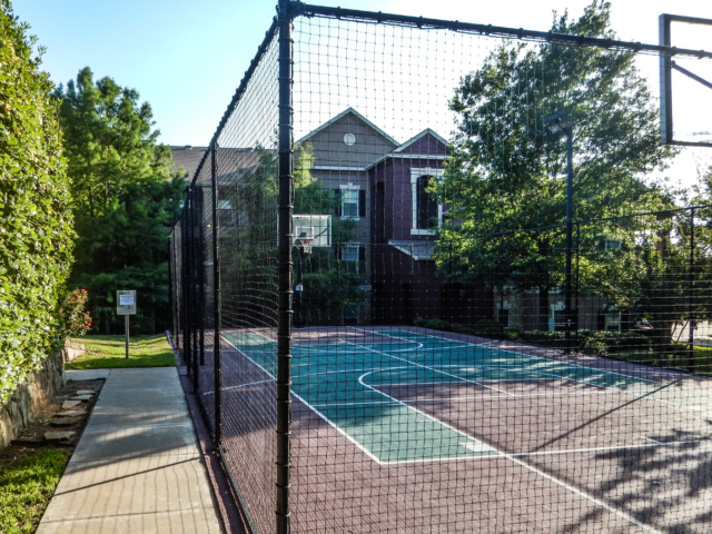 Sports court nets installed and repaired. Private and public courts.  Windscreen fence nets can be attached to a variety of fence structures for sports courts.