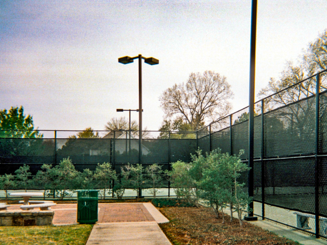 Windscreens reduce the hassle of blowing dust, and wind , Vision barrier screens add privacy to a court and give fields a clean look. These screens can be customized with your logo and message. All of our screens are custom made and carry our 10 year Guarantee. Contact us about how we can help improve your club, school or city tennis courts.