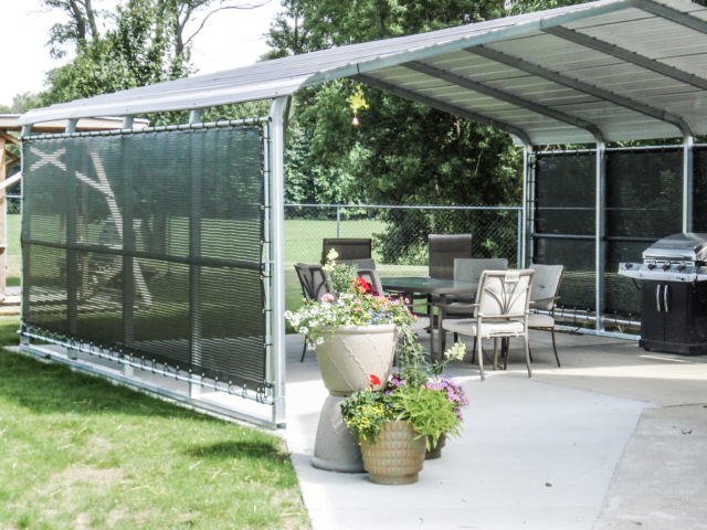 Prefer cooking outdoors in the nice weather but find that the afternoon sun makes it a chore instead of fun, add windscreens to a carport and find an economical way to create a great outdoor space.