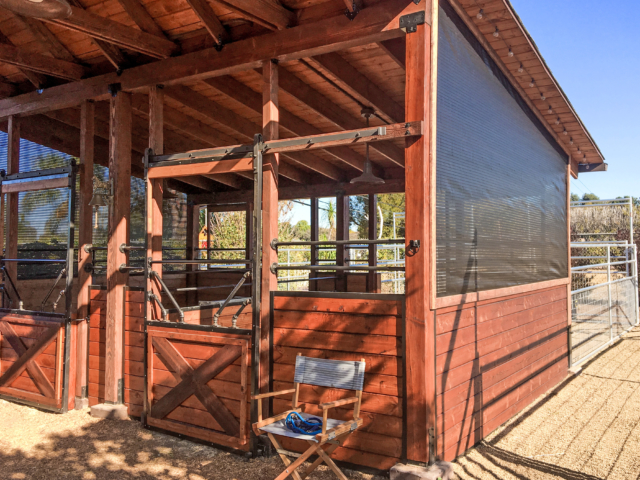 Barns can be used year round when ventilated shade screens are installed enhancing appearance, adding privacy, and lessening harsh weather elements