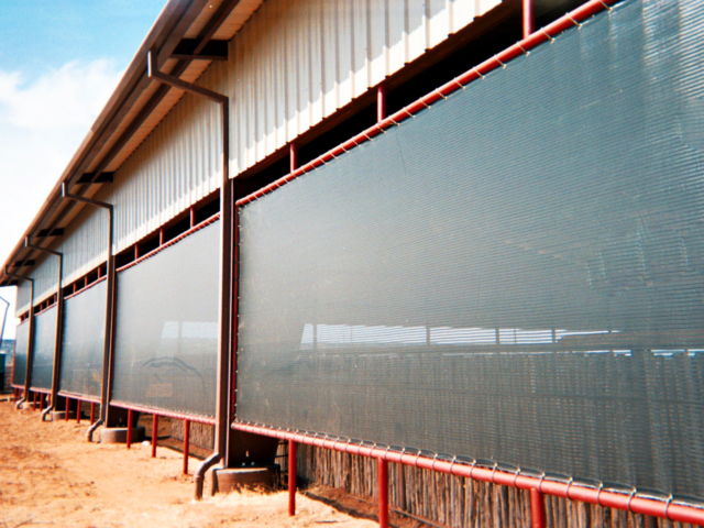 Weather protection shade screens help with climate control in arenas