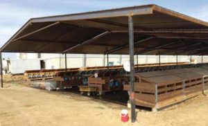 Shade for feed barns