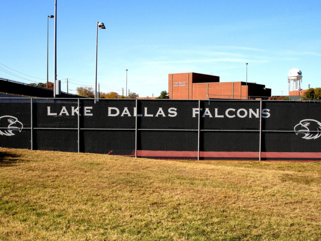 Custom windscreens add privacy to outdoor school courts and fields. Add Logo for team recognition.  provide improved visibility of ball reduce cross winds