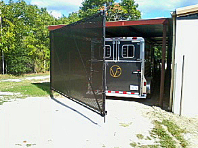 Windscreen shade fabric for gates is strong, durable, and UV resistant. Made in the USA. Custom fabricated to your need and structure.