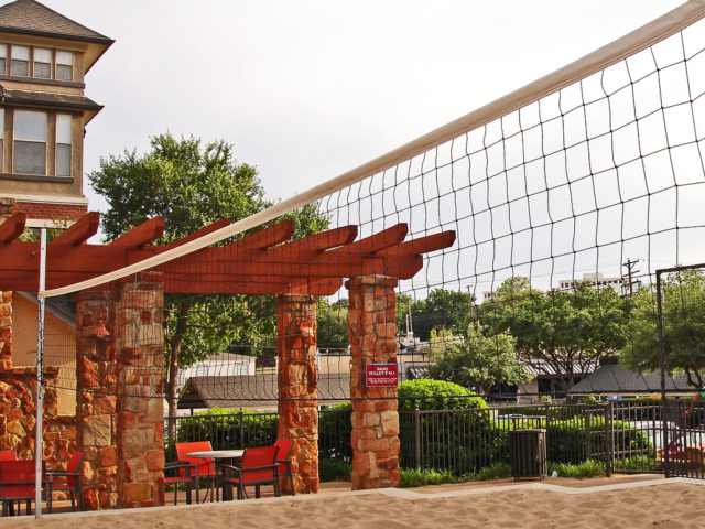 Sports court netting, basketball and volleyball nets, fence screens, goal post and court repair in Dallas / Ft. Worth, Texas.